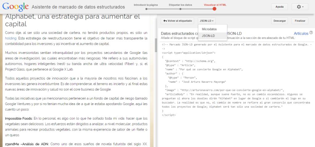 Semántica Web: Marcado para Rich Snippets con Microdatos o JSON-LD