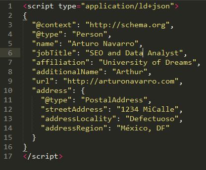 JSON-LD code