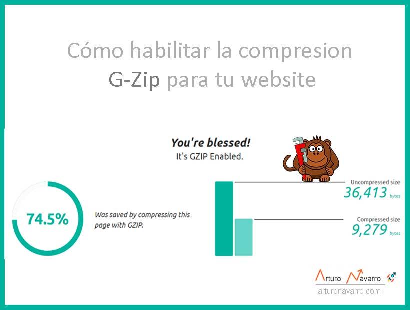 Cómo habilitar compresión gzip para mi sitio web