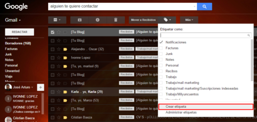 crear etiqueta gmail para zapier