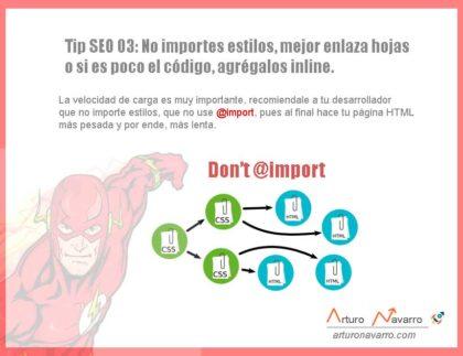 No utilizar @import Tip SEO-3