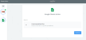 Google sheets zapier