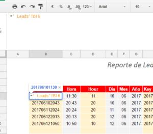 columna fecha google sheets