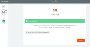 conexión zapier gmail exitosa