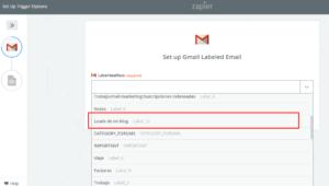 zapier gmail etiqueta
