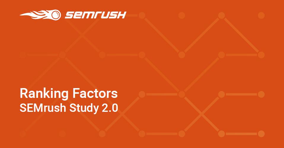 Factores de posicionamiento SEO para 2018 (SEO Ranking Factors study 2017)
