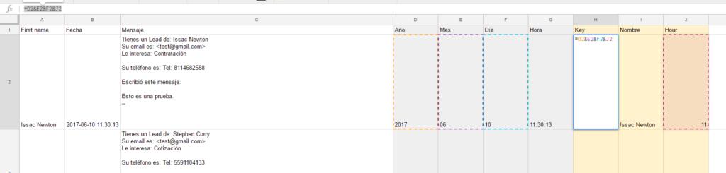 concatenar en Google sheets