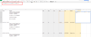 fórmula google sheets para extraer hora