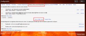 filtros para etiquetas de gmail