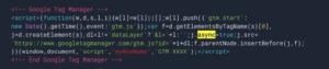 GTM asynchronous tag